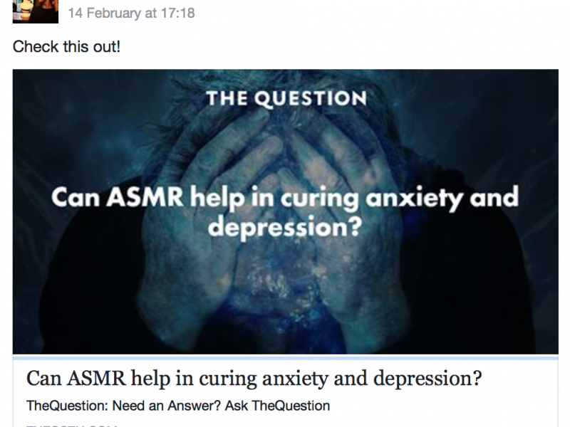 Facebook groups of ASMR 6